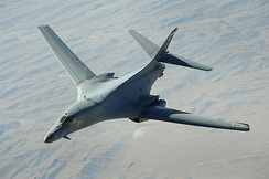 B-1B Lancer on a close air support mission in Afghanistan in 2008