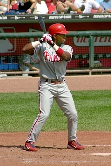 Jimmy Rollins holds the single season record for most plate appearances, at 778.