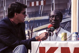 "Mike Shannon interviewing James ""Cool Papa"" Bell in 1986."