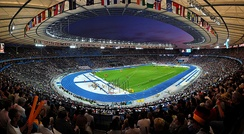 The Olympiastadion hosted the 1936 Summer Olympics and the 2006 FIFA World Cup Final.