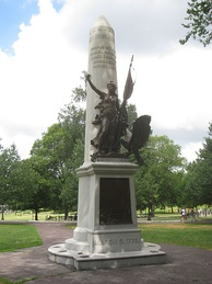 Boston Massacre Monument on the Boston Common
