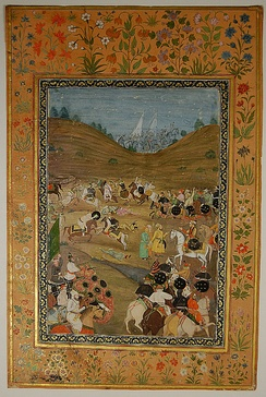Alivardi Khan (Mughal Empire's viceroy of Bangal) captures two prisoners.