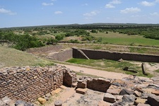 Dholavira, one of the largest cities of Indus Valley Civilisation, with stepwell steps to reach the water level in artificially constructed reservoirs.[48]
