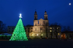 Christmas Tree made of 32000 recycled plastic bottles in 2013.