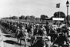 Victory Week Parade in Delhi to celebrate the final defeat of the Axis Powers, March 1946.