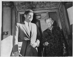 Despite her reservations, Roosevelt supported Kennedy's campaign.