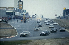 Senna won the saloon exhibition race to celebrate the opening of the new Nürburgring in 1984.