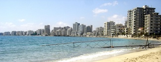 Prior to the Turkish invasion of Cyprus in 1974, Varosha, now falling into ruin, once was a modern tourist area.