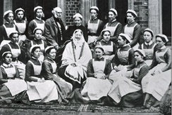 Florence Nightingale and her class of nurses