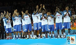 France national team after winning silver medals in FIBA EuroBasket 2011.