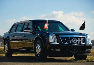 "The presidential limousine, dubbed ""The Beast"""