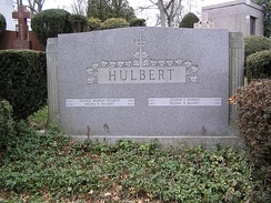The tombstone of George Murray Hulbert in Gate of Heaven Cemetery