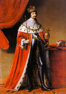 Frederick V, Elector Palatine as King of Bohemia, painted by Gerrit van Honthorst in 1634, two years after the subject's death