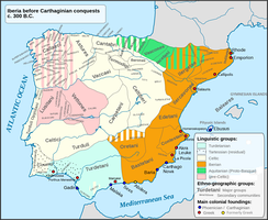Pre-Roman map of The Iberian Peninsula