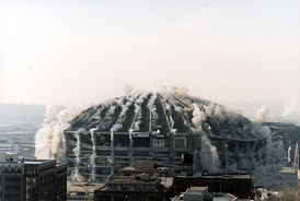 The Kingdome imploding in March 2000