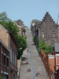 The stairway of the Montagne de Bueren.