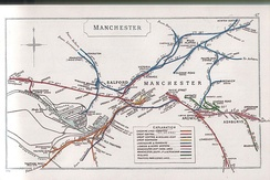 A 1910 map of Manchester's railways