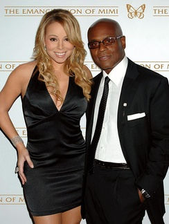Reid with Mariah Carey at The Emancipation of Mimi release party in 2005