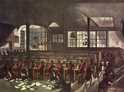 The old General Post Office on Lombard Street, London, in 1803