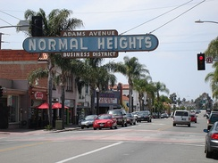 Normal Heights, a neighborhood of San Diego