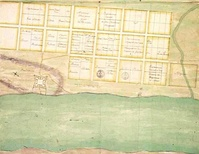 Proposed city plan drafted by Charles Levasseur in 1702