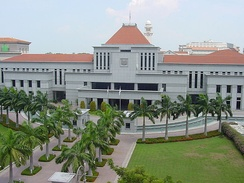 Parliament House, Singapore. As a city-state, Singapore requires no specific capital.