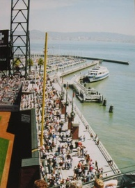 McCovey Cove and the arcade at Oracle Park