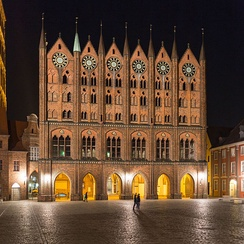 Late medieval Brick Gothic architecture in Stralsund, nowadays a UNESCO World Heritage Site
