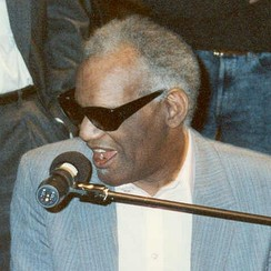 Composer, pianist, and singer Ray Charles