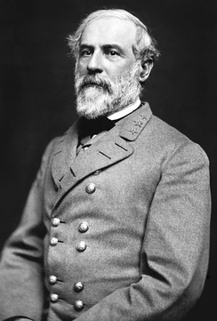 General Robert E. Lee, the Confederacy's most famous general.