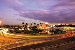 The capital city Managua at night