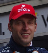 Stefan Mücke (pictured in 2011) suffered brusing after heavily colliding with the tyre barriers in his car