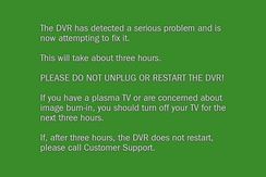 Green screen of death encountered for serious errors on TiVo devices.