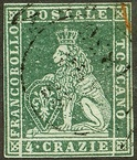 4 crazie stamp from 1851