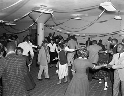 African American Valentine's school dance, Richmond, Virginia 1956