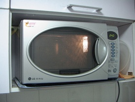 A microwave oven, c. 2005