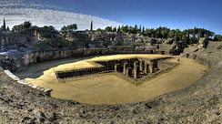 The Roman amphitheatre of Italica
