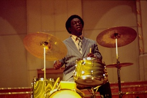 "Blakey on a tour billed as part of the ""Giants of Jazz"" in Hamburg, Germany, in 1973"