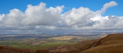 Looking north over the Brecon Beacons