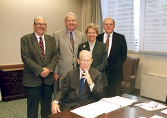 White with other members of the Commission on Structural Alternatives for the Federal Courts of Appeals