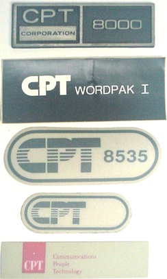 These are some of the product labels that were applied to various products produced in the 1980s by CPT Corporation (Minneapolis, MN, USA)