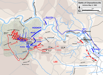 Chancellorsville, actions on May 2