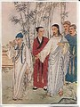 A Chinese depiction of Jesus and the rich man, from Mark chapter 10.