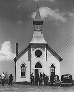 Norwegian Lutheran Church in Irwin, Iowa, in 1941.