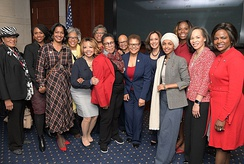 Harris with Congressional Black Caucus women