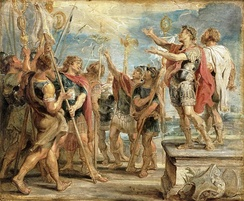 Constantine's conversion, by Rubens.