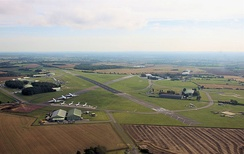 In 2009 Kemble Airport was renamed Cotswold Airport. This view looks east.