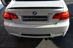 BMW E92 M3 Coupé with rear spoiler (black) made of Carbon fiber