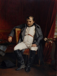 Napoleon after his abdication in Fontainebleau, 4 April 1814, by Paul Delaroche
