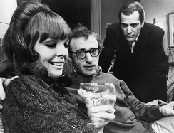 Keaton with Woody Allen and Jerry Lacy in the play Play It Again, Sam (1969/1970)